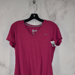 Primary Photo - BRAND: NIKE APPAREL STYLE: ATHLETIC TOP SHORT SLEEVE COLOR: MAGENTA SIZE: M SKU: 186-186217-7107