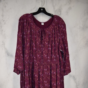 Primary Photo - BRAND: OLD NAVY STYLE: DRESS LONG SHORT SLEEVE COLOR: MAGENTA SIZE: 2X SKU: 186-186217-7131