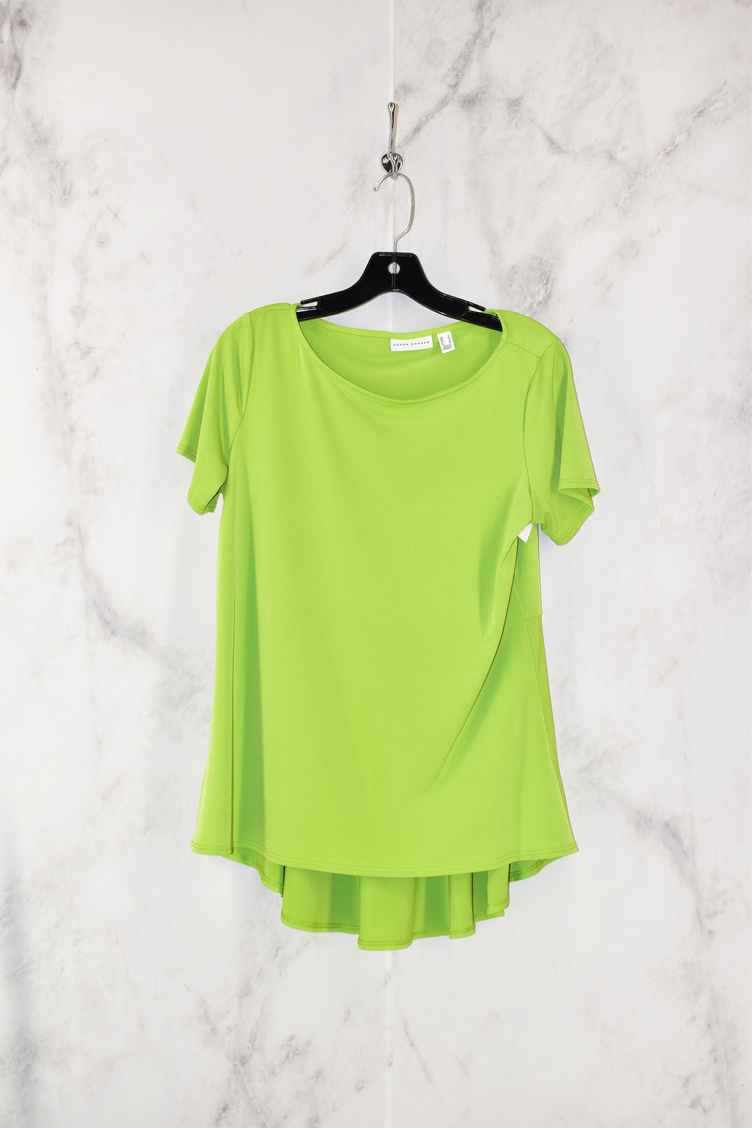 Primary Photo - BRAND: SUSAN GRAVER <BR>STYLE: TOP SHORT SLEEVE <BR>COLOR: GREEN <BR>SIZE: S <BR>SKU: 186-186200-1363