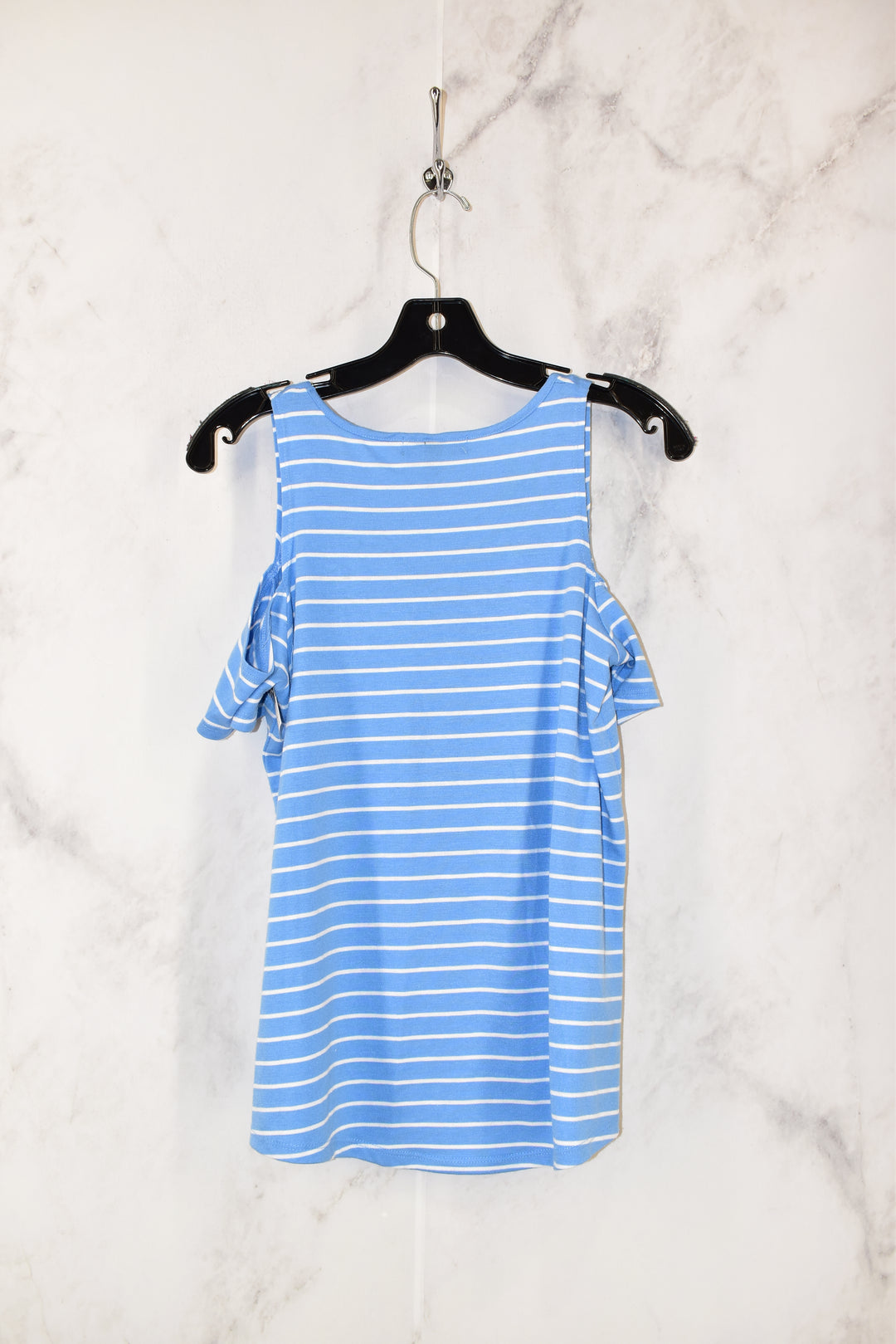 Photo #1 - BRAND: DEREK HEART <BR>STYLE: TOP SHORT SLEEVE <BR>COLOR: BLUE <BR>SIZE: M <BR>SKU: 186-186213-2986