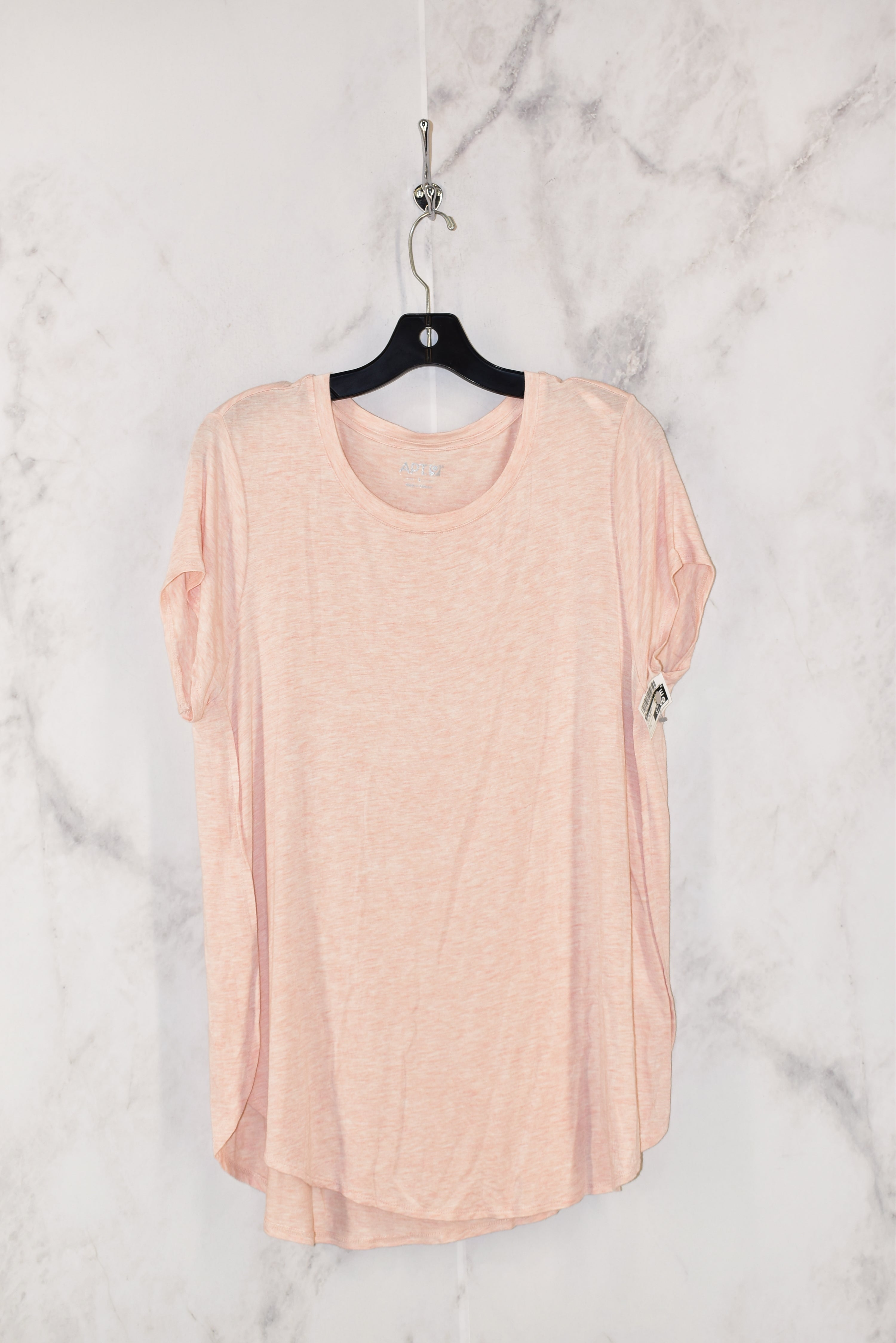 Primary Photo - BRAND: APT 9 <BR>STYLE: TOP SHORT SLEEVE BASIC <BR>COLOR: LIGHT PINK <BR>SIZE: L <BR>SKU: 186-186213-3141