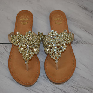 Primary Photo - BRAND: YELLOW BOX STYLE: SANDALS FLAT COLOR: GOLD SIZE: 8.5 SKU: 186-186167-30865