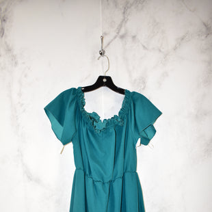 Primary Photo - BRAND:    CLOTHES MENTOR STYLE: DRESS SHORT SHORT SLEEVE COLOR: TURQUOISE SIZE: L SKU: 186-186221-695