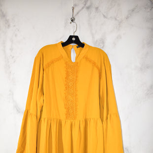 Primary Photo - BRAND: SHEIN STYLE: DRESS SHORT LONG SLEEVE COLOR: YELLOW SIZE: 4X SKU: 186-186217-3589