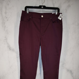 Primary Photo - BRAND: WHITE HOUSE BLACK MARKET STYLE: PANTS COLOR: PLUM SIZE: 12 OTHER INFO: NEW! SKU: 186-186167-30083