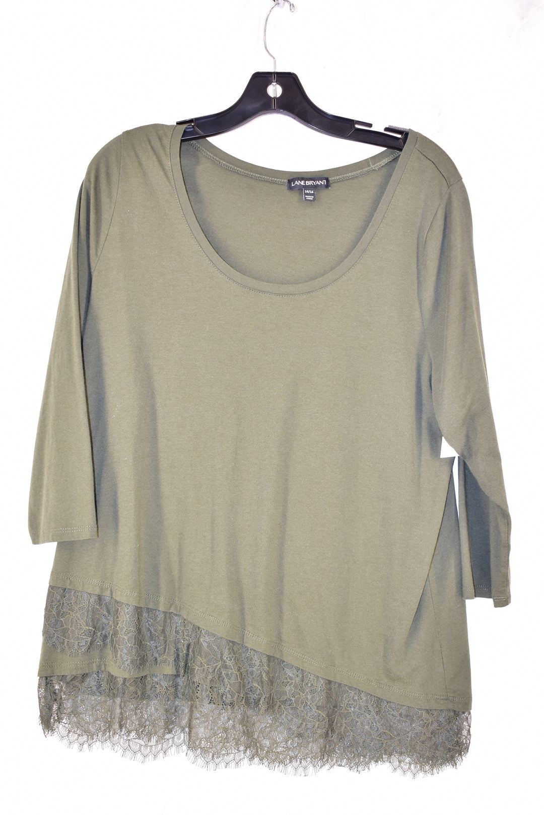 Primary Photo - BRAND: LANE BRYANT <BR>STYLE: TOP LONG SLEEVE <BR>COLOR: OLIVE <BR>SIZE: 1X <BR>SKU: 186-186106-6118