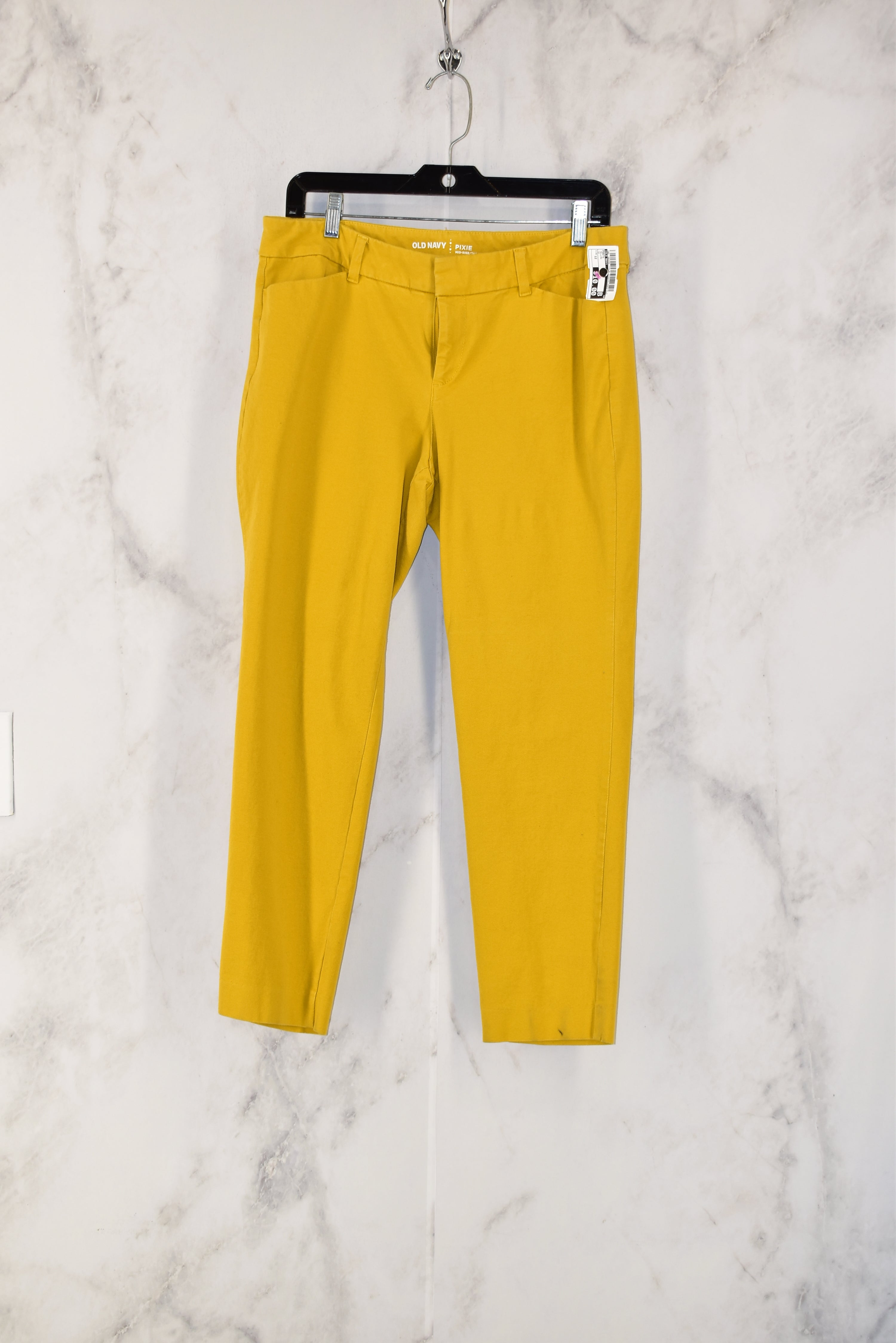 Primary Photo - BRAND: OLD NAVY<BR>STYLE: PANTS<BR>COLOR: YELLOW<BR>SIZE: 12<BR>SKU: 186-186200-774