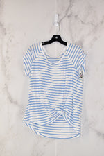 Primary Photo - BRAND: RED CAMEL<BR>STYLE: TOP SHORT SLEEVE<BR>COLOR: WHITE BLUE<BR>SIZE: XL<BR>SKU: 186-186104-12161