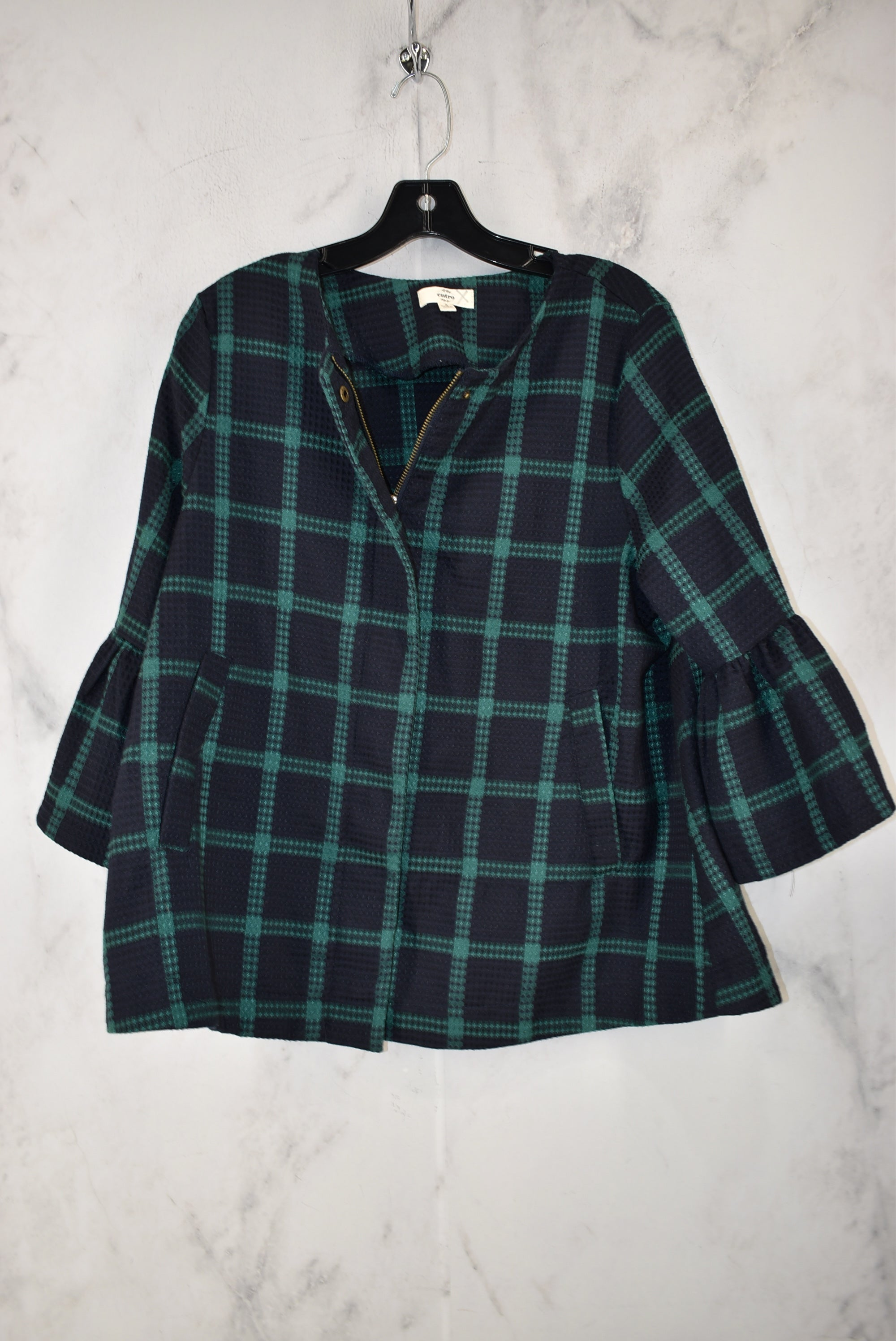 Primary Photo - BRAND: ENTRO <BR>STYLE: JACKET OUTDOOR <BR>COLOR: PLAID <BR>SIZE: S <BR>SKU: 186-186167-29917