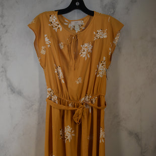 Primary Photo - BRAND: ANN TAYLOR LOFT O STYLE: DRESS LONG SHORT SLEEVE COLOR: YELLOW SIZE: M SKU: 186-186106-12097