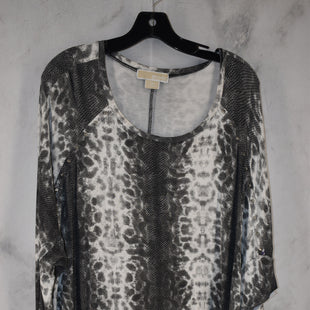 Primary Photo - BRAND: MICHAEL BY MICHAEL KORS STYLE: TOP LONG SLEEVE COLOR: ANIMAL PRINT SIZE: 1X SKU: 186-186230-117