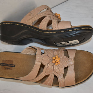 Primary Photo - BRAND: CLARKS STYLE: SANDALS LOW COLOR: TAN SIZE: 9 OTHER INFO: COLLECTION BY CLARKS SKU: 186-186106-11694