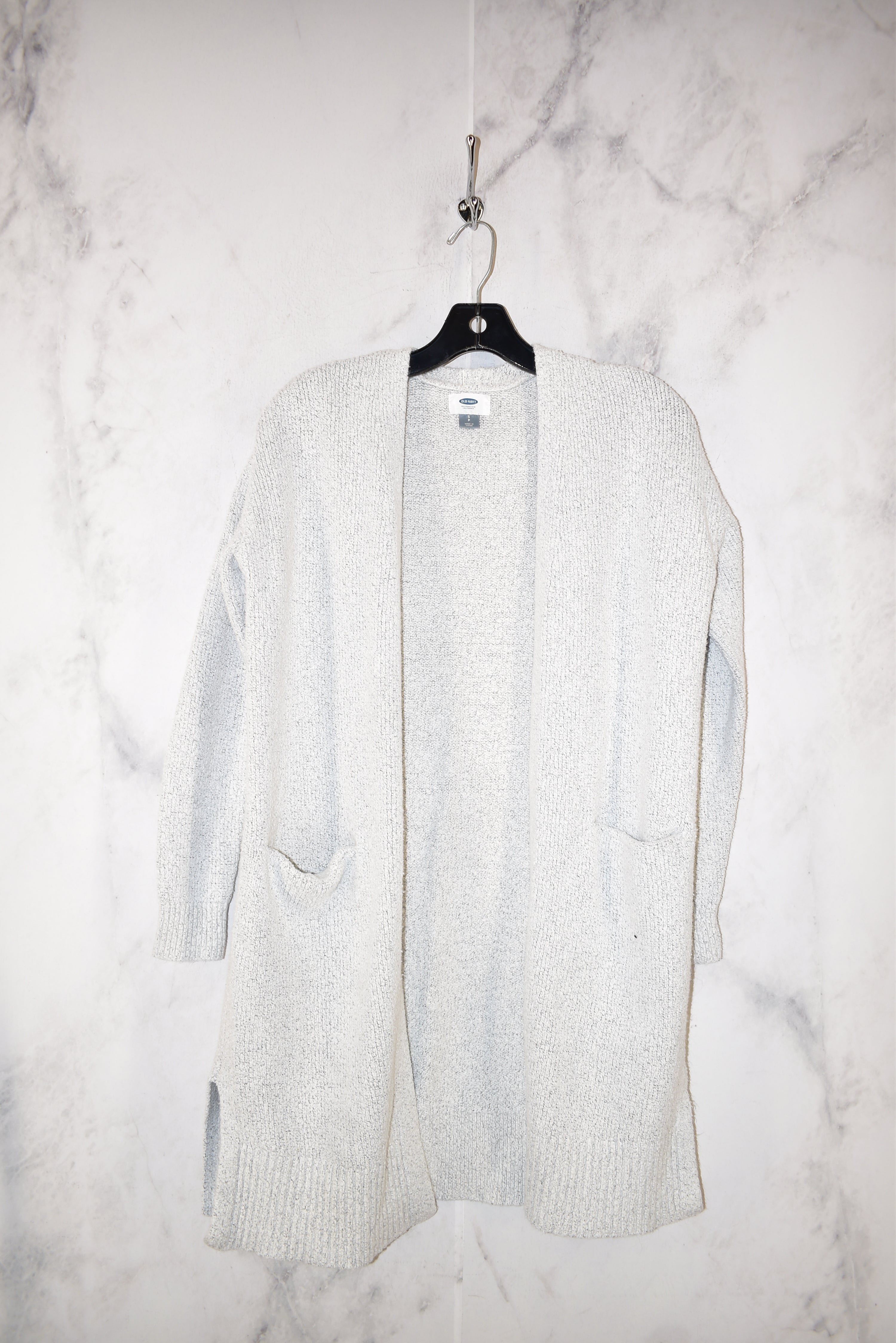 Primary Photo - BRAND: OLD NAVY <BR>STYLE: SWEATER CARDIGAN HEAVYWEIGHT <BR>COLOR: GREY <BR>SIZE: S <BR>SKU: 186-186167-25153