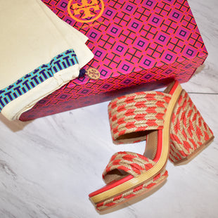 Primary Photo - BRAND: TORY BURCH STYLE: SHOES DESIGNER COLOR: ORANGE SIZE: 9 SKU: 186-186167-27289
