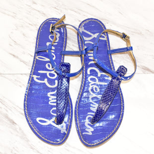 Primary Photo - BRAND: SAM EDELMAN STYLE: SANDALS FLAT COLOR: BLUE SIZE: 9 SKU: 186-186167-22142