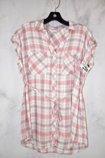 Primary Photo - BRAND: MOTHERHOOD <BR>STYLE: MATERNITY TOP SHORT SLEEVE <BR>COLOR: PLAID <BR>SIZE: S <BR>SKU: 186-186106-9124