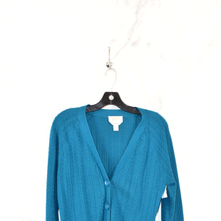 Primary Photo - BRAND: TALBOTS STYLE: SWEATER CARDIGAN COLOR: TEAL SIZE: L SKU: 186-186179-11427