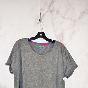 Primary Photo - BRAND: COLUMBIA STYLE: ATHLETIC TOP SHORT SLEEVE COLOR: GREY SIZE: XL SKU: 186-186167-27836