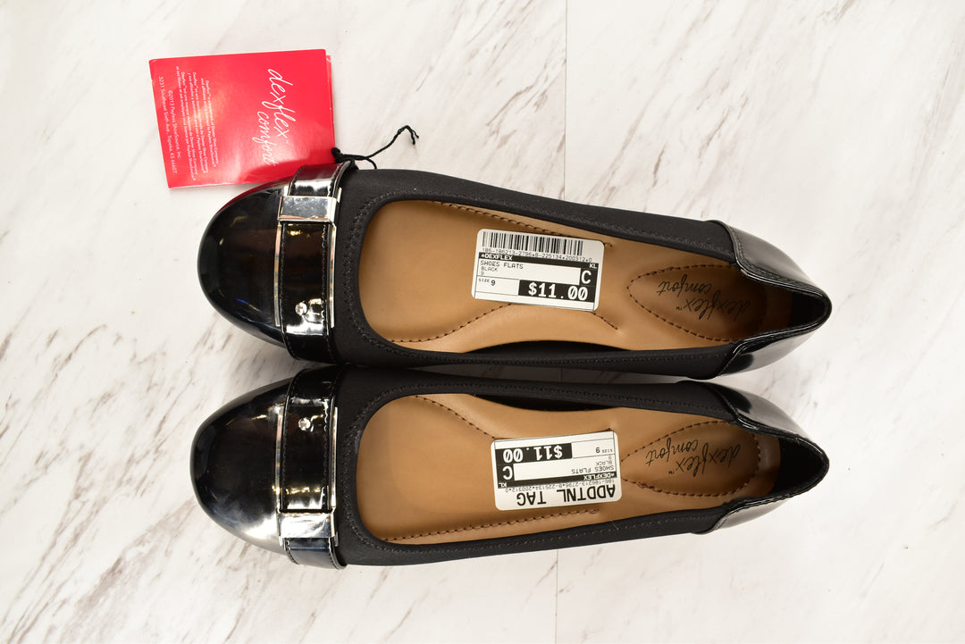 Primary Photo - BRAND: DEXFLEX<BR>STYLE: SHOES FLATS<BR>COLOR: BLACK<BR>SIZE: 9<BR>SKU: 186-186213-2796