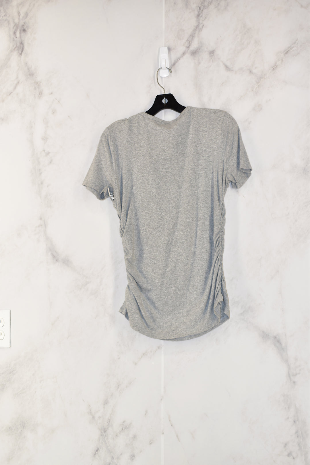 Photo #1 - BRAND: MICHAEL BY MICHAEL KORS<BR>STYLE: TOP SHORT SLEEVE<BR>COLOR: GREY<BR>SIZE: M<BR>SKU: 186-186179-4997