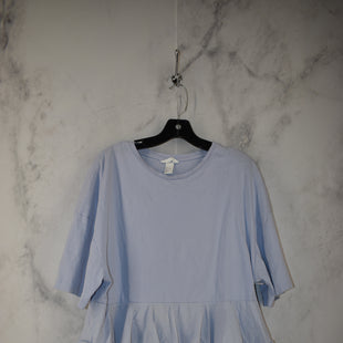 Primary Photo - BRAND: H&M STYLE: TOP SHORT SLEEVE COLOR: BABY BLUE SIZE: L SKU: 186-186217-7124