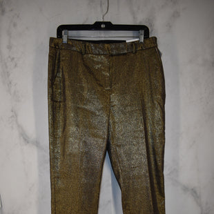 Primary Photo - BRAND: WHITE HOUSE BLACK MARKET STYLE: PANTS COLOR: GOLD SIZE: 10 OTHER INFO: NEW! SKU: 186-186167-30082