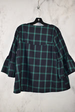 Photo #1 - BRAND: ENTRO <BR>STYLE: JACKET OUTDOOR <BR>COLOR: PLAID <BR>SIZE: S <BR>SKU: 186-186167-29917
