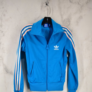 Primary Photo - BRAND: ADIDAS STYLE: ATHLETIC JACKET COLOR: BLUE SIZE: XS SKU: 186-186217-5285