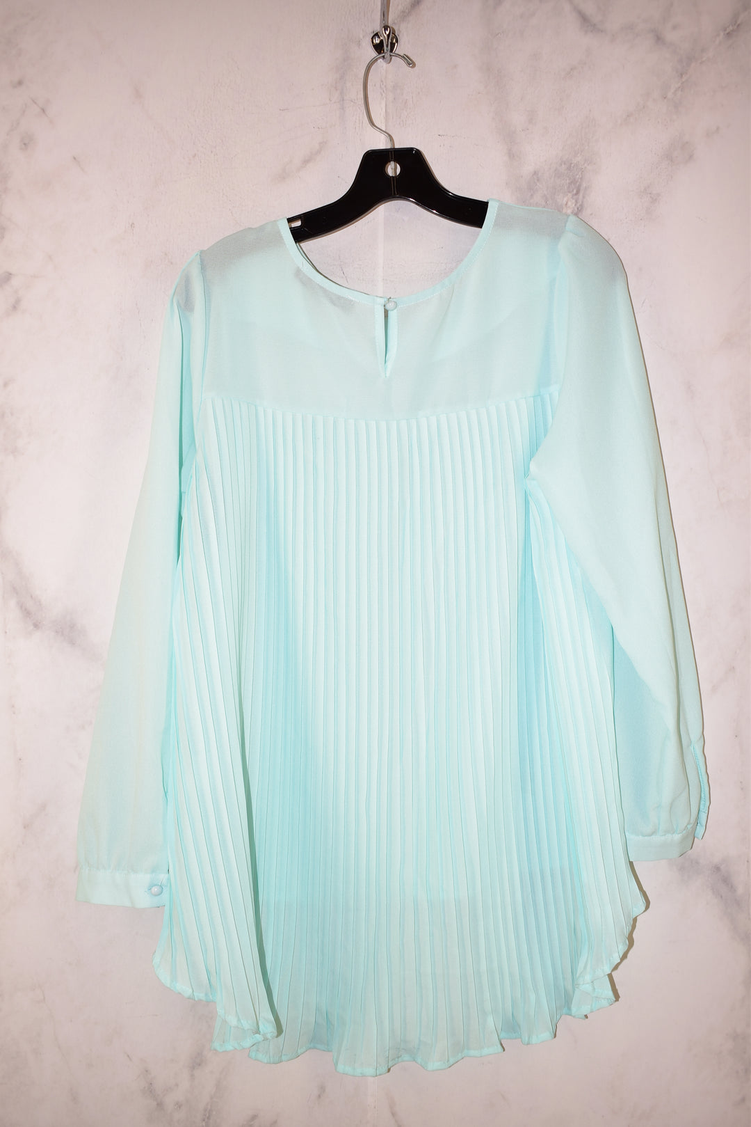 Photo #1 - BRAND: ZANZEA <BR>STYLE: TOP LONG SLEEVE <BR>COLOR: LIGHT BLUE <BR>SIZE: M <BR>SKU: 186-186179-12805
