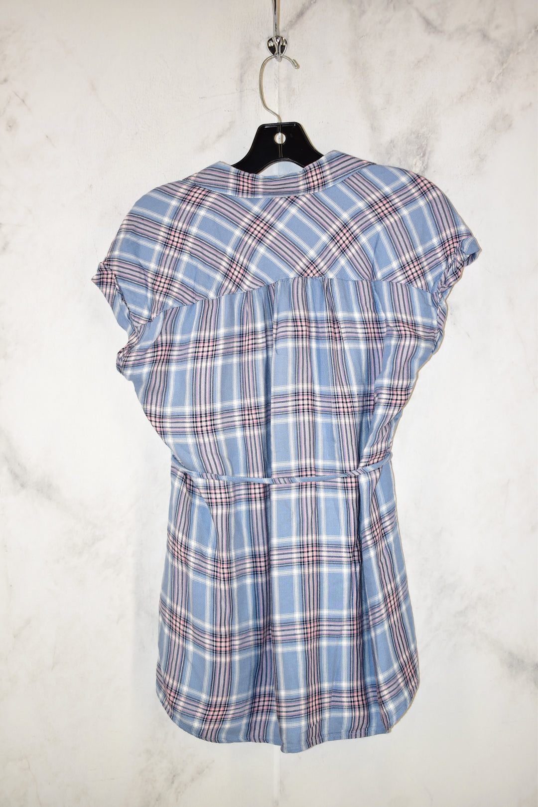 Photo #1 - BRAND: MOTHERHOOD <BR>STYLE: MATERNITY TOP SHORT SLEEVE <BR>COLOR: PLAID <BR>SIZE: S <BR>SKU: 186-186106-9123