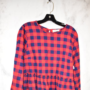 Primary Photo - BRAND: UNIVERSAL THREAD STYLE: TOP LONG SLEEVE COLOR: RED BLUE SIZE: L SKU: 186-186213-8109