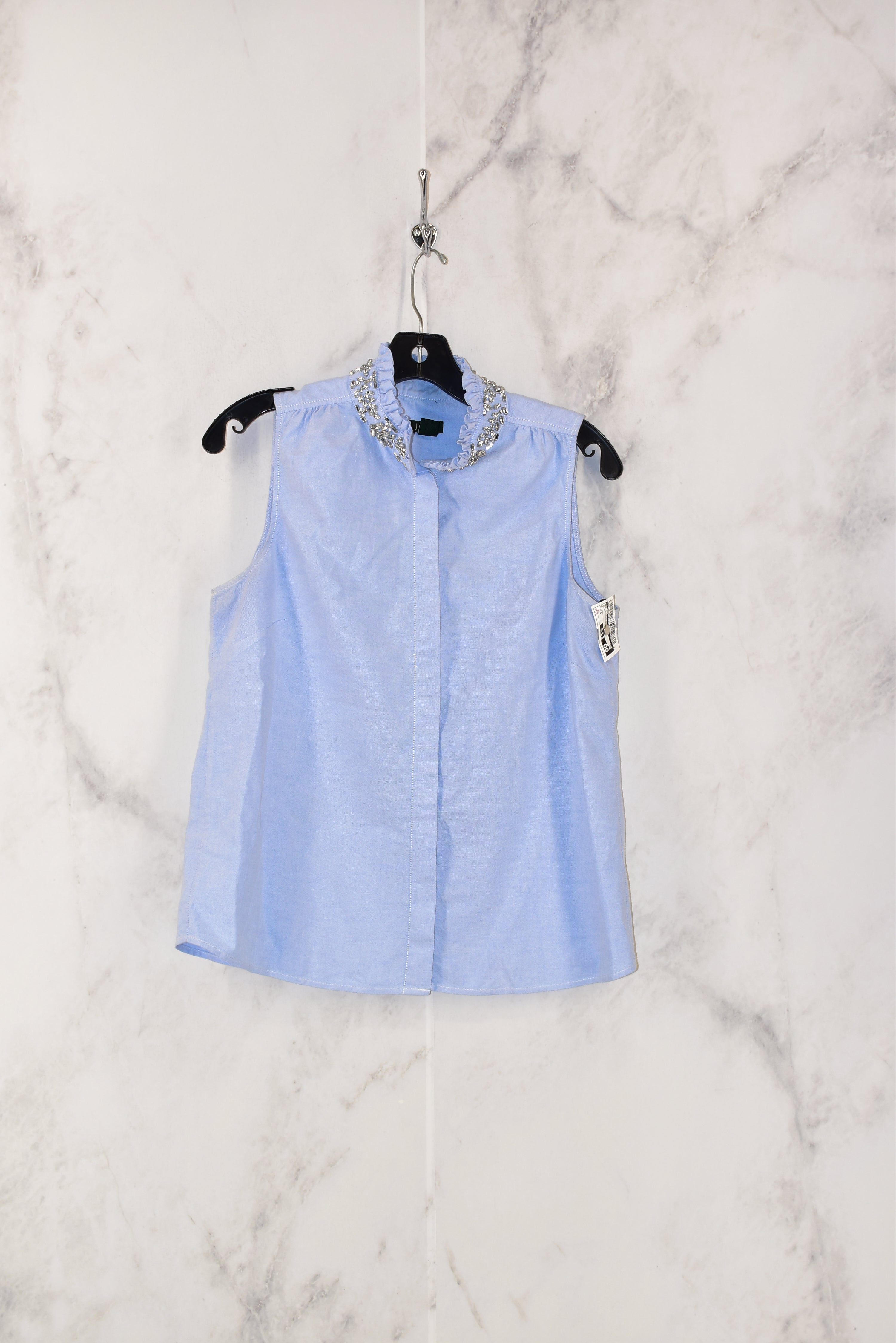 Primary Photo - BRAND: J CREW <BR>STYLE: TOP SLEEVELESS <BR>COLOR: BLUE <BR>SIZE: S <BR>SKU: 186-186167-22140