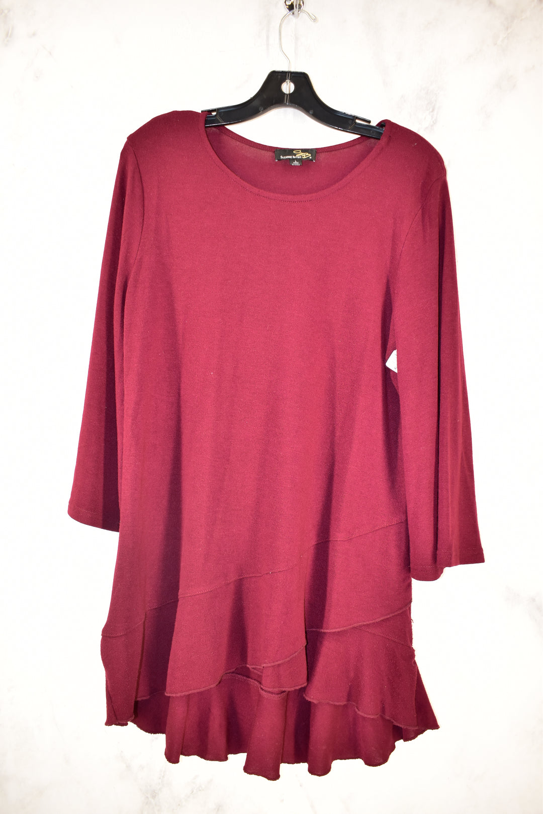 Primary Photo - BRAND: SUZANNE BETRO <BR>STYLE: TOP LONG SLEEVE <BR>COLOR: MAROON <BR>SIZE: L <BR>SKU: 186-186219-9