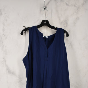 Primary Photo - BRAND: CROWN AND IVY STYLE: TOP SLEEVELESS COLOR: NAVY SIZE: 2X SKU: 186-186217-7726