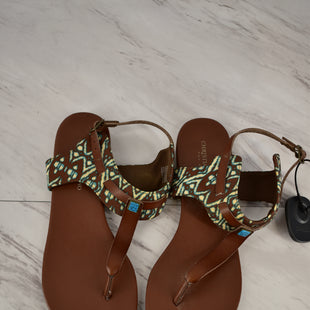Primary Photo - BRAND: CHRISTIAN SIRIANO STYLE: SANDALS FLAT COLOR: BROWN SIZE: 9 SKU: 186-186213-3758