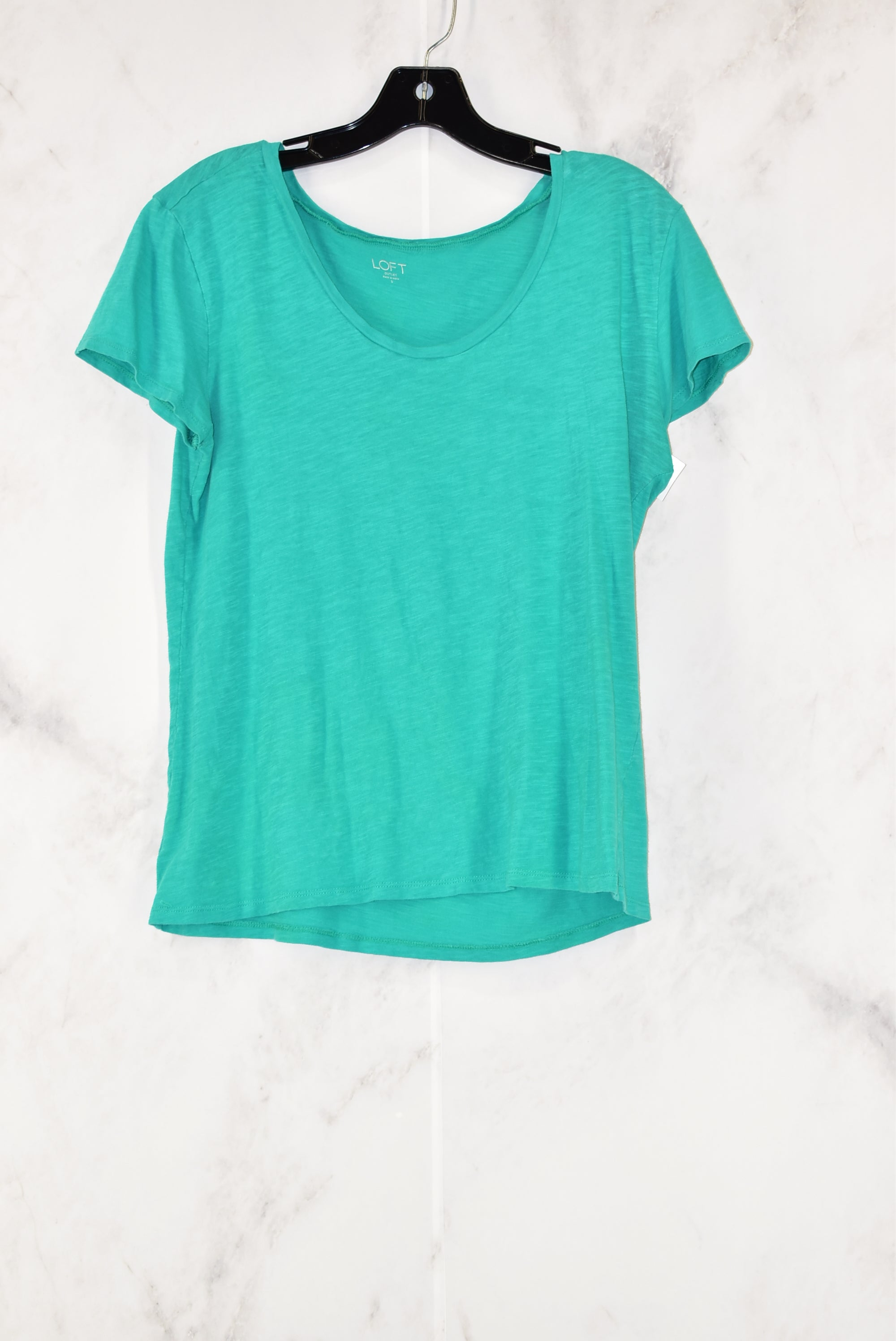Primary Photo - BRAND: ANN TAYLOR LOFT O<BR>STYLE: TOP SHORT SLEEVE<BR>COLOR: GREEN<BR>SIZE: S<BR>SKU: 186-186104-10988