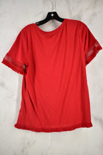 Photo #1 - BRAND: CATO <BR>STYLE: TOP SHORT SLEEVE <BR>COLOR: RED <BR>SIZE: M <BR>SKU: 186-186219-11