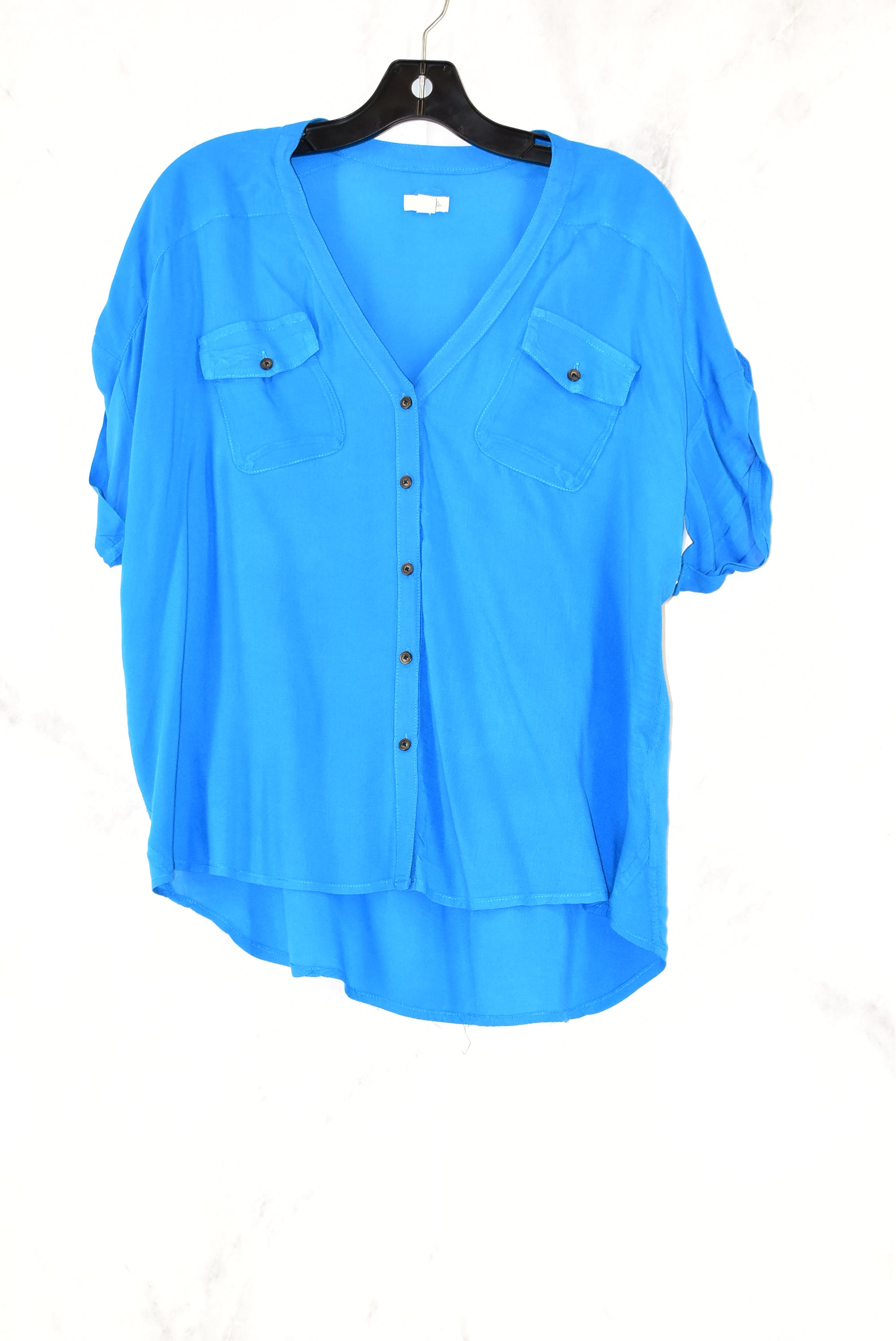 Primary Photo - BRAND: ODILLE<BR>STYLE: TOP SHORT SLEEVE<BR>COLOR: BLUE<BR>SIZE: S<BR>SKU: 186-186167-13394