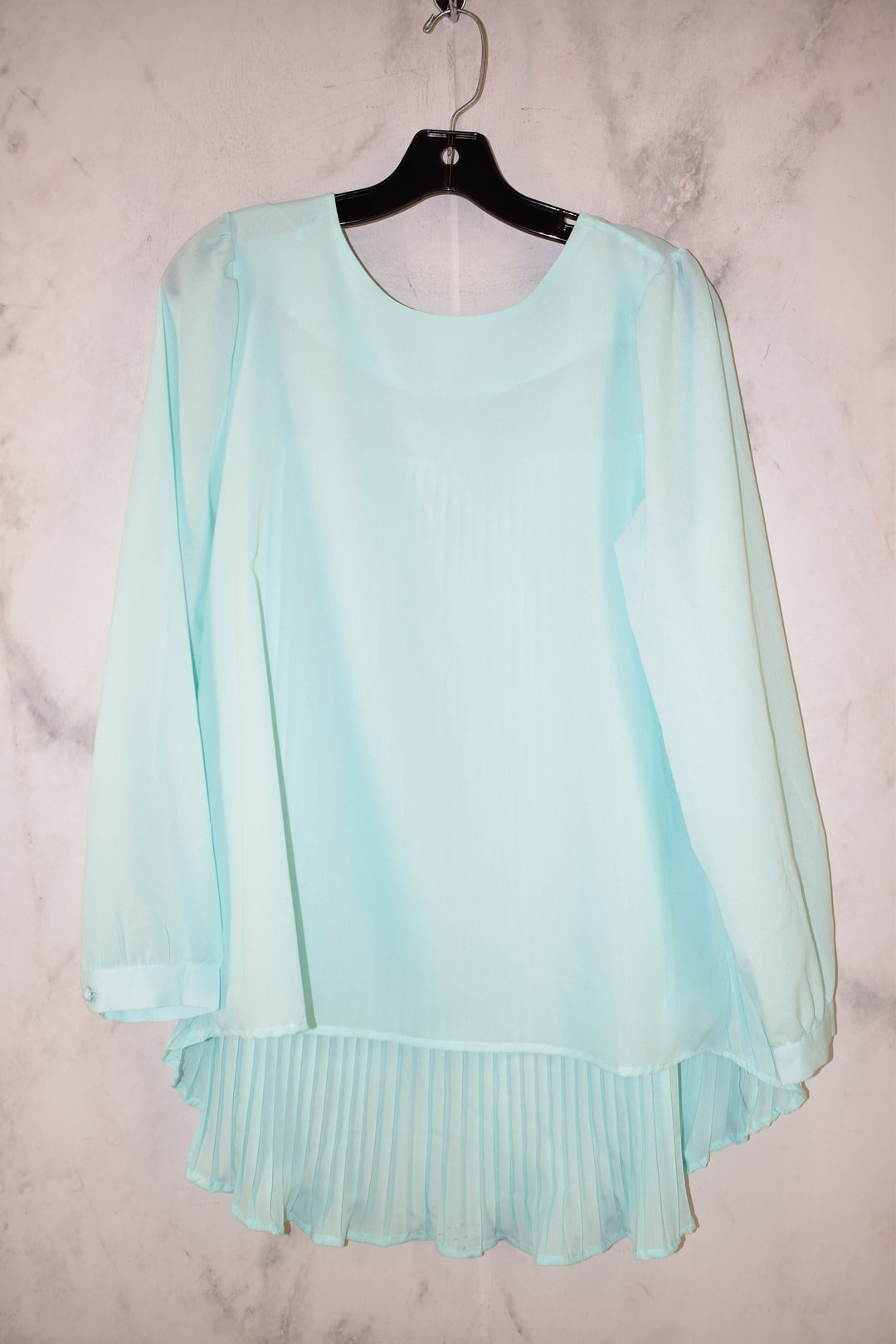 Primary Photo - BRAND: ZANZEA <BR>STYLE: TOP LONG SLEEVE <BR>COLOR: LIGHT BLUE <BR>SIZE: M <BR>SKU: 186-186179-12805