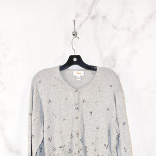 Primary Photo - BRAND: TALBOTS STYLE: SWEATER CARDIGAN LIGHTWEIGHT COLOR: GREY SIZE: XL SKU: 186-186167-18591