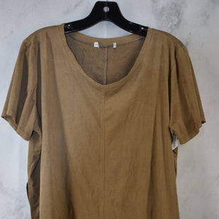 Primary Photo - BRAND:    CLOTHES MENTOR STYLE: TOP SHORT SLEEVE COLOR: BROWN SIZE: XL SKU: 186-186230-15
