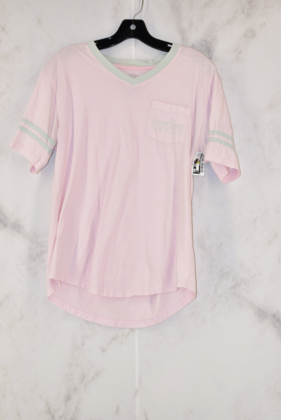 Primary Photo - BRAND:    CLOTHES MENTOR<BR>STYLE: TOP SHORT SLEEVE<BR>COLOR: PINK<BR>SIZE: M<BR>OTHER INFO: LAUREN JAMES -<BR>SKU: 186-186167-18208