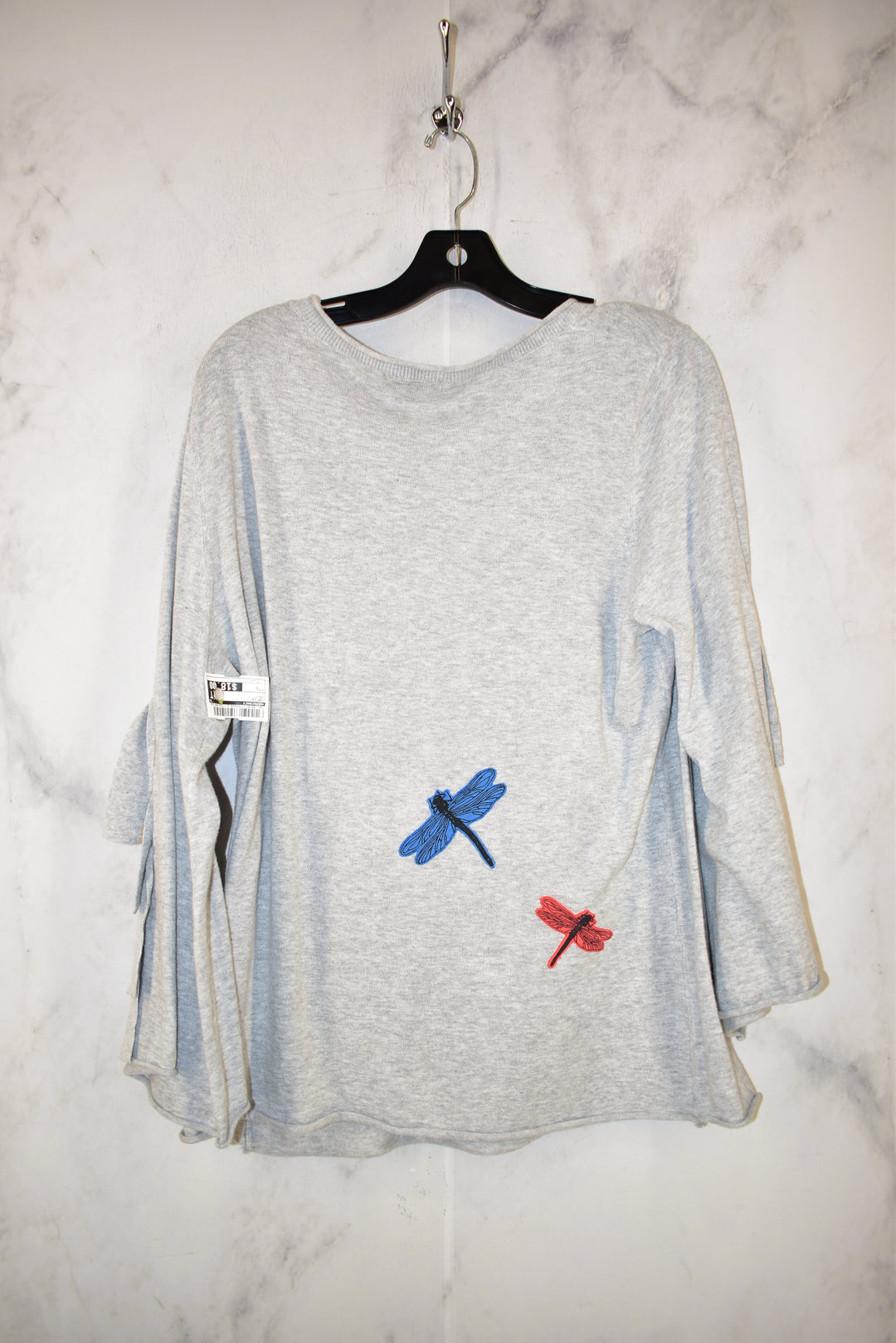 Photo #1 - BRAND: DEMOCRACY <BR>STYLE: TOP LONG SLEEVE <BR>COLOR: GREY <BR>SIZE: L <BR>SKU: 186-186167-17993