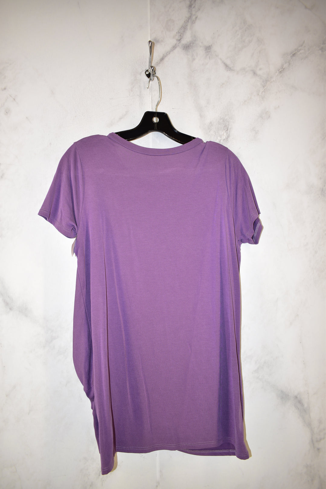 Photo #1 - BRAND: JODIFL <BR>STYLE: TOP SHORT SLEEVE <BR>COLOR: PURPLE <BR>SIZE: S <BR>SKU: 186-186167-25846