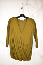 Primary Photo - BRAND: ANN TAYLOR LOFT <BR>STYLE: TOP LONG SLEEVE <BR>COLOR: GREEN <BR>SIZE: PETITE   SMALL <BR>SKU: 186-186167-25912