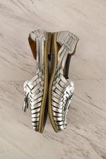 Photo #1 - BRAND:    CLOTHES MENTOR<BR>STYLE: SHOES FLATS<BR>COLOR: SILVER<BR>SIZE: 8<BR>SKU: 186-186206-327