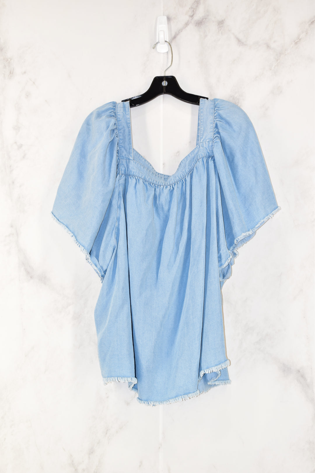 Primary Photo - BRAND: ANA<BR>STYLE: TOP SHORT SLEEVE<BR>COLOR: DENIM<BR>SIZE: 3X<BR>SKU: 186-186200-321