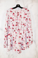 Photo #1 - BRAND: FOREVER 21 <BR>STYLE: DRESS SHORT LONG SLEEVE <BR>COLOR: FLORAL <BR>SIZE: XL <BR>OTHER INFO: ROMPER <BR>SKU: 186-186106-7285