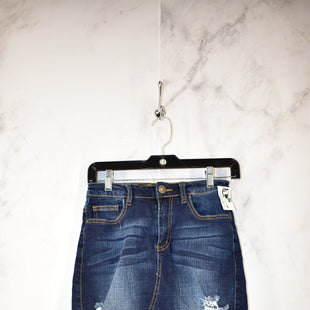 Primary Photo - BRAND:    CLOTHES MENTOR STYLE: SKIRT COLOR: DENIM SIZE: S OTHER INFO: MACHINE - SKU: 186-186221-685