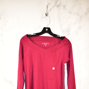 Primary Photo - BRAND: ANN TAYLOR LOFT STYLE: TOP LONG SLEEVE BASIC COLOR: RED SIZE: S SKU: 186-186167-23524